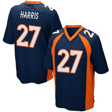 Youth Nike Denver Broncos Davontae Harris Navy Blue Alternate Jersey - Game
