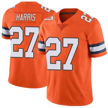 Youth Nike Denver Broncos Davontae Harris Orange Color Rush Vapor Untouchable Jersey - Limited