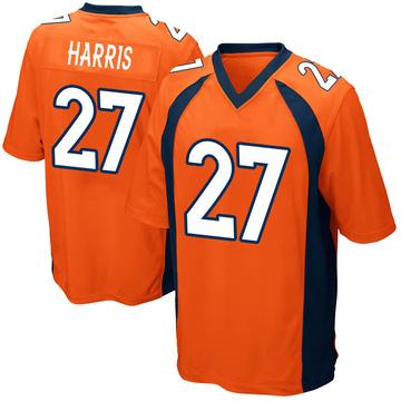 Youth Nike Denver Broncos Davontae Harris Orange Team Color Jersey - Game