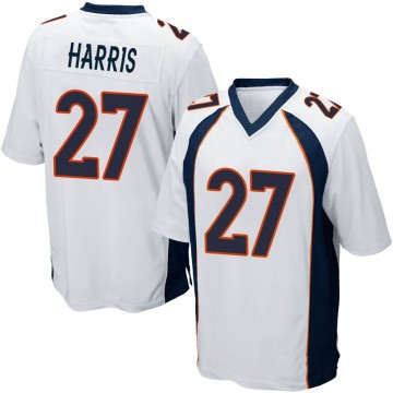 Youth Nike Denver Broncos Davontae Harris White Jersey - Game
