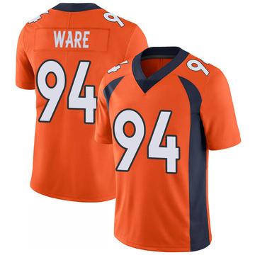 Youth Nike Denver Broncos DeMarcus Ware Orange 100th Vapor Jersey - Limited