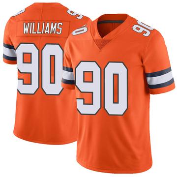 Youth Nike Denver Broncos DeShawn Williams Orange Color Rush Vapor Untouchable Jersey - Limited