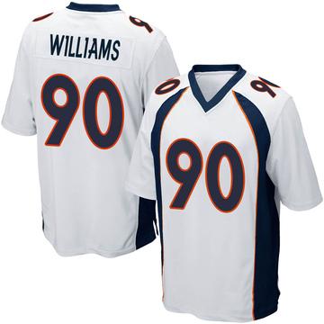 Youth Nike Denver Broncos DeShawn Williams White Jersey - Game