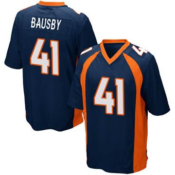Youth Nike Denver Broncos De'Vante Bausby Navy Blue Alternate Jersey - Game