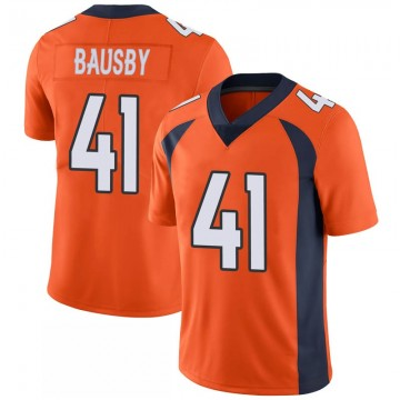 Youth Nike Denver Broncos De'Vante Bausby Orange 100th Vapor Jersey - Limited