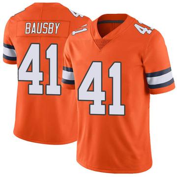 Youth Nike Denver Broncos De'Vante Bausby Orange Color Rush Vapor Untouchable Jersey - Limited