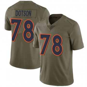 Youth Nike Denver Broncos Demar Dotson Green 2017 Salute to Service Jersey - Limited