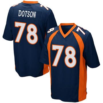 Youth Nike Denver Broncos Demar Dotson Navy Blue Alternate Jersey - Game