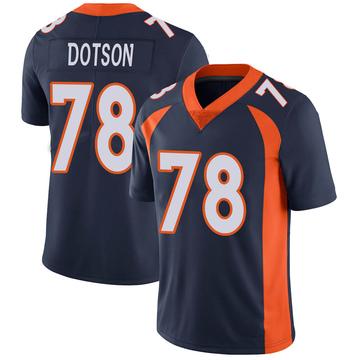 Youth Nike Denver Broncos Demar Dotson Navy Vapor Untouchable Jersey - Limited