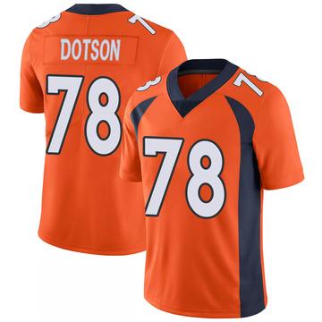 Youth Nike Denver Broncos Demar Dotson Orange 100th Vapor Jersey - Limited