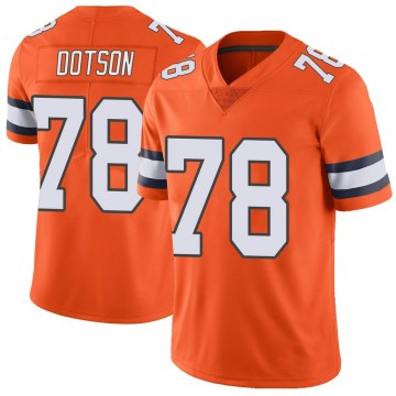 Youth Nike Denver Broncos Demar Dotson Orange Color Rush Vapor Untouchable Jersey - Limited