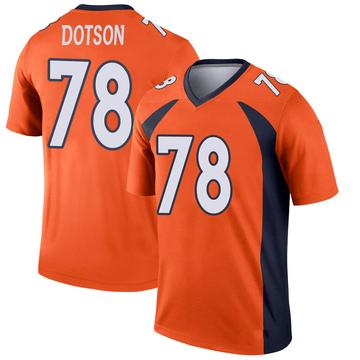 Youth Nike Denver Broncos Demar Dotson Orange Jersey - Legend