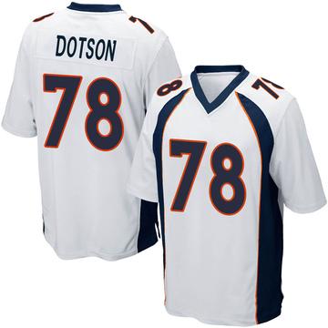 Youth Nike Denver Broncos Demar Dotson White Jersey - Game