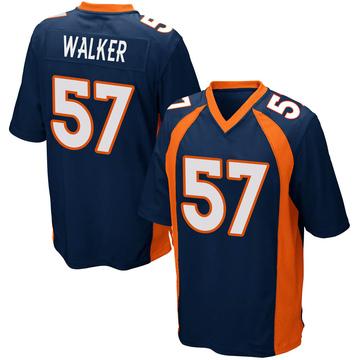 Youth Nike Denver Broncos Demarcus Walker Navy Blue Alternate Jersey - Game