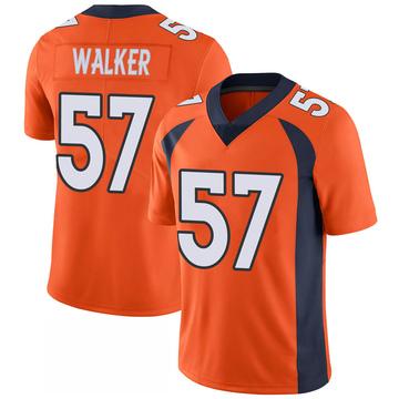 Youth Nike Denver Broncos Demarcus Walker Orange 100th Vapor Jersey - Limited