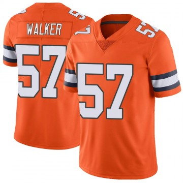 Youth Nike Denver Broncos Demarcus Walker Orange Color Rush Vapor Untouchable Jersey - Limited