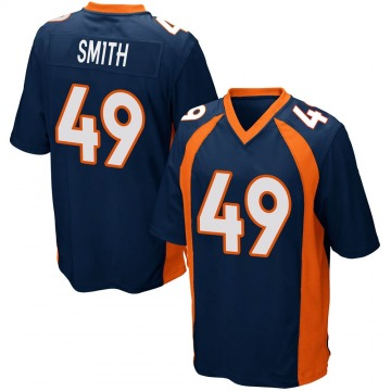 Youth Nike Denver Broncos Dennis Smith Navy Blue Alternate Jersey - Game