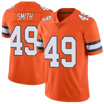 Youth Nike Denver Broncos Dennis Smith Orange Color Rush Vapor Untouchable Jersey - Limited