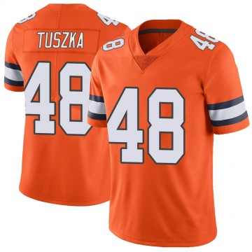 Youth Nike Denver Broncos Derrek Tuszka Orange Color Rush Vapor Untouchable Jersey - Limited