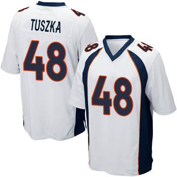 Youth Nike Denver Broncos Derrek Tuszka White Jersey - Game