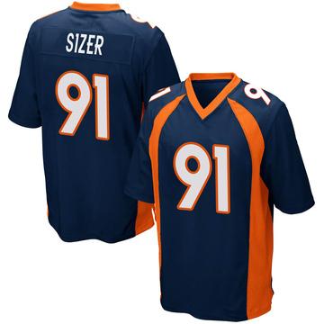Youth Nike Denver Broncos Deyon Sizer Navy Blue Alternate Jersey - Game