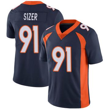 Youth Nike Denver Broncos Deyon Sizer Navy Vapor Untouchable Jersey - Limited