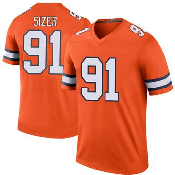 Youth Nike Denver Broncos Deyon Sizer Orange Color Rush Jersey - Legend