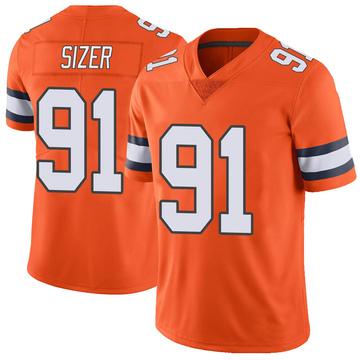 Youth Nike Denver Broncos Deyon Sizer Orange Color Rush Vapor Untouchable Jersey - Limited