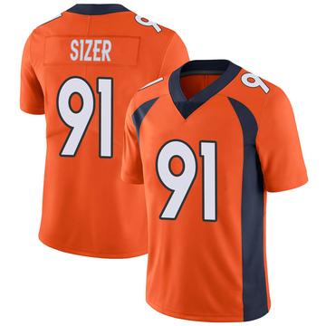 Youth Nike Denver Broncos Deyon Sizer Orange Team Color Vapor Untouchable Jersey - Limited