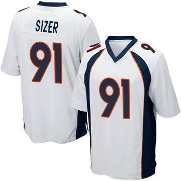 Youth Nike Denver Broncos Deyon Sizer White Jersey - Game