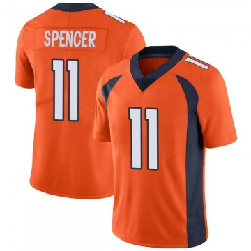 Youth Nike Denver Broncos Diontae Spencer Orange 100th Vapor Jersey - Limited