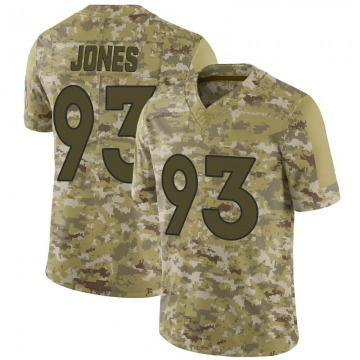 Youth Nike Denver Broncos Dre'Mont Jones Camo 2018 Salute to Service Jersey - Limited