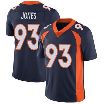 Youth Nike Denver Broncos Dre'Mont Jones Navy Vapor Untouchable Jersey - Limited