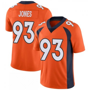 Youth Nike Denver Broncos Dre'Mont Jones Orange 100th Vapor Jersey - Limited