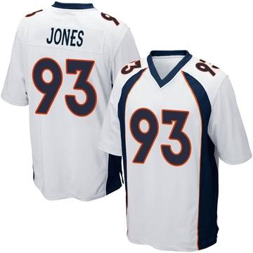 Youth Nike Denver Broncos Dre'Mont Jones White Jersey - Game
