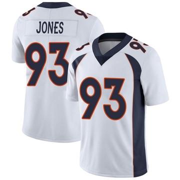 Youth Nike Denver Broncos Dre'Mont Jones White Vapor Untouchable Jersey - Limited