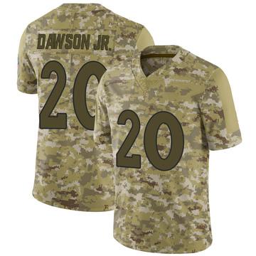 Youth Nike Denver Broncos Duke Dawson Jr. Camo 2018 Salute to Service Jersey - Limited