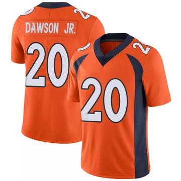 Youth Nike Denver Broncos Duke Dawson Jr. Orange 100th Vapor Jersey - Limited