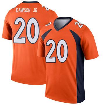 Youth Nike Denver Broncos Duke Dawson Jr. Orange Jersey - Legend