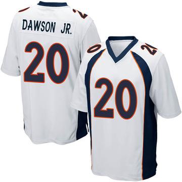 Youth Nike Denver Broncos Duke Dawson Jr. White Jersey - Game