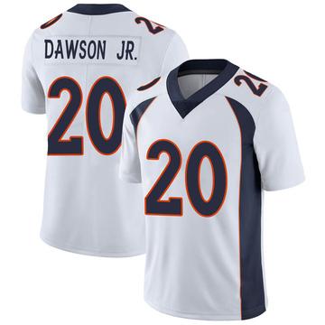 Youth Nike Denver Broncos Duke Dawson Jr. White Vapor Untouchable Jersey - Limited