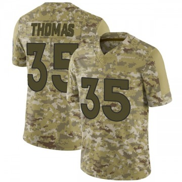 Youth Nike Denver Broncos Dymonte Thomas Camo 2018 Salute to Service Jersey - Limited