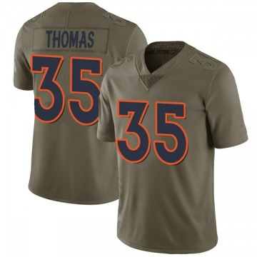 Youth Nike Denver Broncos Dymonte Thomas Green 2017 Salute to Service Jersey - Limited