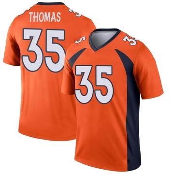 Youth Nike Denver Broncos Dymonte Thomas Orange Jersey - Legend