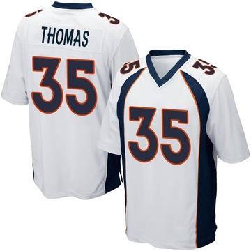 Youth Nike Denver Broncos Dymonte Thomas White Jersey - Game