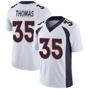 Youth Nike Denver Broncos Dymonte Thomas White Vapor Untouchable Jersey - Limited