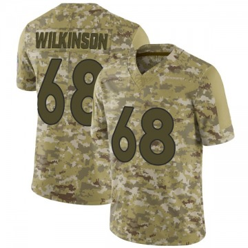 Youth Nike Denver Broncos Elijah Wilkinson Camo 2018 Salute to Service Jersey - Limited