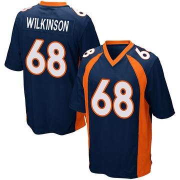 Youth Nike Denver Broncos Elijah Wilkinson Navy Blue Alternate Jersey - Game