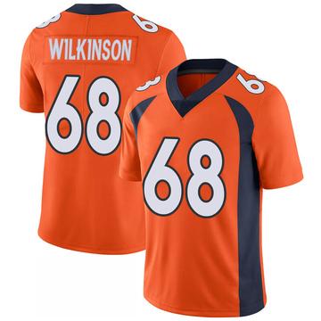 Youth Nike Denver Broncos Elijah Wilkinson Orange 100th Vapor Jersey - Limited