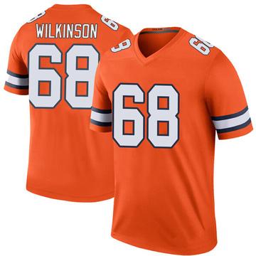 Youth Nike Denver Broncos Elijah Wilkinson Orange Color Rush Jersey - Legend